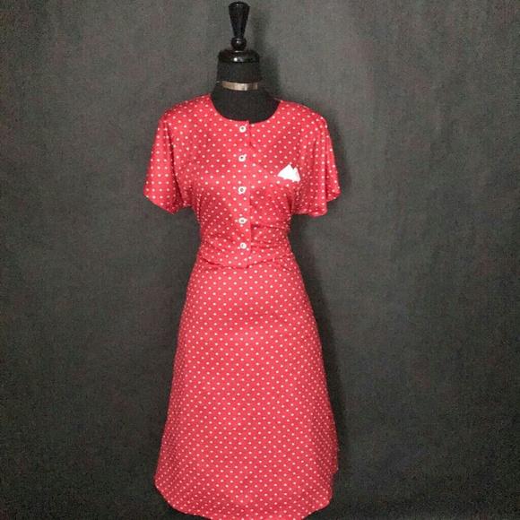 03e25c69a19 BLAIR Dresses   Skirts - BLAIR Dot-Print Pretty Flowy Dress ...